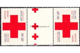 Nederlandse Antillen NVPH 592a Postfris FOTOLEVERING Keerdruk MET 2 KLEINE KRUIZEN EN 2 GEDEELTELIJKE KRUIZEN Rode Kruis 1978