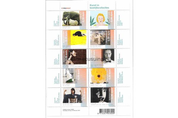 Nederland NVPH V2325-2334 Gestempeld Velletje Kunst in bedrijfscollecties 2005