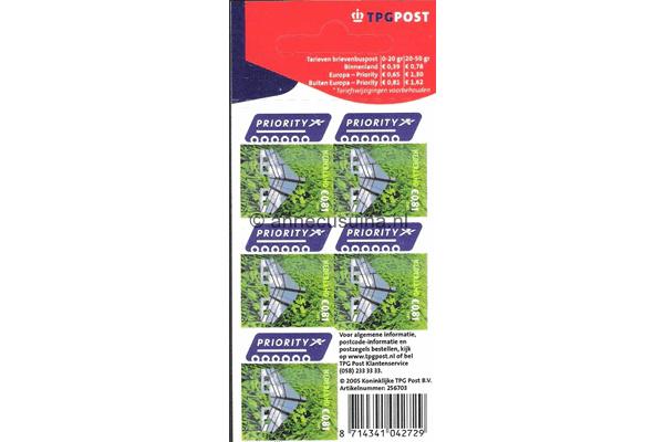 Nederland NVPH V2321 Gestempeld Velletje Voor uw post 0,81 euro 2005