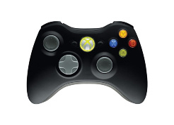 Microsoft Xbox 360 Controller - zwart / grijs