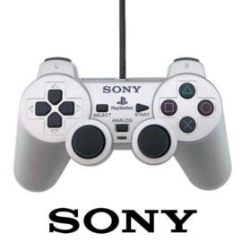 PS2 Dual Shock Controller - zilver