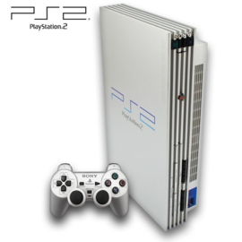 PS2 Phat met Controller - Zilver