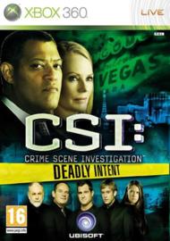 CSI Crime Scene Investigation Deadly Intent - Xbox 360