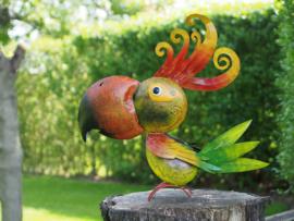 """Metalen tuinbeeld figuur """"De kleurrijke papegaai"""" TBW16164me"""