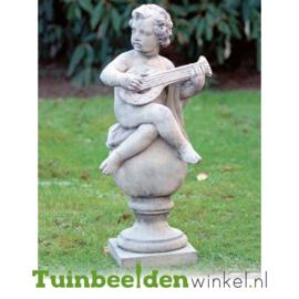 """Engelen beeld """"De gitarist"""" op sokkel TWB3br233br"""