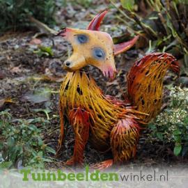 """Metalen tuinbeeld figuur """"De vos"""" TBW14034me"""