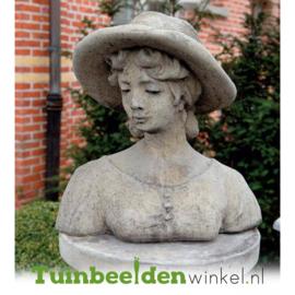 """Borstbeeld """"Stijlvolle vrouw"""" op sokkel TWB3br318br"""