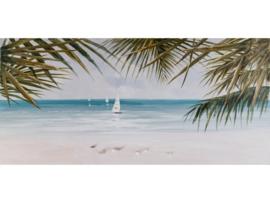 Olieverf schilderij landschap ''Tropisch'' TBW60045sc
