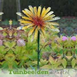 "Metalen bloem ""De zonnige chrysant"" TBW13092-Bme"