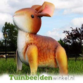 Dieren tuinbeeld ''Het bruine konijn'' Tbw0871pr34