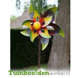 Metalen bloem ''De gekleurde bloem'' TBW16072
