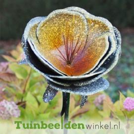 """Metalen bloem """"De glitter bloem"""" TBW13091-Bme"""