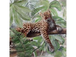 """Olieverf schilderij dieren """"Jaguar"""" TBW25108sc"""