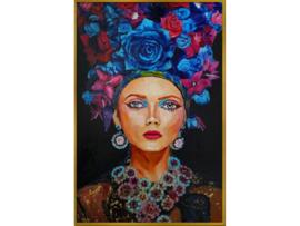 """Olieverf schilderij vrouw """"Extravagant"""" TBW27306sc"""