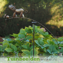 "Tuinsteker ""Het kat en muis spel"" TBW19564me"