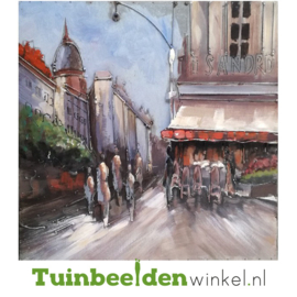 "Metalen schilderij ""Café Sandro"" TBW000390-S"