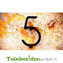 """Schilderij van RVS """"Nummer 5"""" TBW027sc"""