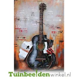 3D schilderij ''De gitaar'' TBW001149
