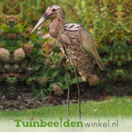 """Metalen tuinbeeld figuur """"De grote ooievaar"""" TBW12268me"""