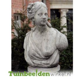 """Borstbeeld """"De beeldschone vrouw """" op sokkel TWB3br313br"""