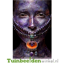 "Schilderij van RVS ""Coloured face"" TBW059sc"