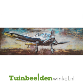Vliegtuig schilderij ''Het kleine vliegtuig'' TBW001254