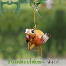 """Metalen tuinbeeld figuur """"Het hangende vogeltje"""" TBW16050me"""