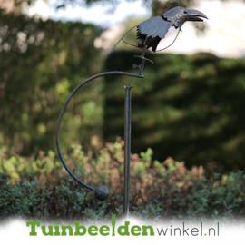 Metalen tuinbeeld figuur ''De raaf'' TBW17015