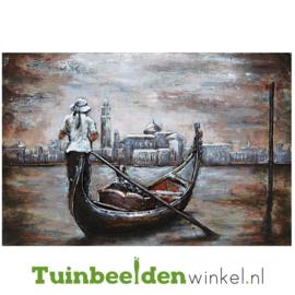 """Boot schilderij """"De gondelvaart"""" TBW001360 80x120 cm"""