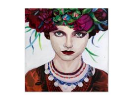"""Olieverf schilderij vrouw """"Oogcontact"""" TBW27261sc"""