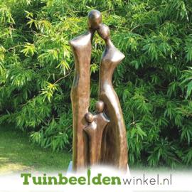 """Modern tuinbeeld """"Gezin met 2 kinderen"""" - kleine versie BBW2388br"""