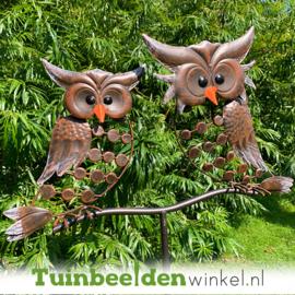 "Tuinsteker roest ""De twee uiltjes"" TBW05466me"