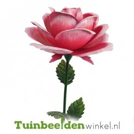 Metalen bloem ''Grote roze roos'' Tbw0871pr106
