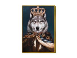 """Olieverf schilderij dieren """"Koning van de husky's"""" TBW27246sc"""