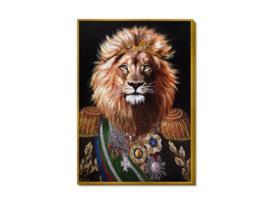 "Olieverf schilderij dieren ""De leeuwenkoning"" TBW27247sc"