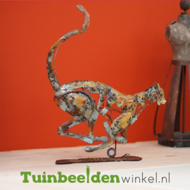 "Metalen figuur ""Rennend jachtluipaard"" TBW310008me"