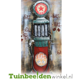 Metalen schilderij ''De benzine'' TBW000591