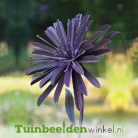 """Metalen bloem """"De paarse chrysant"""" TBW13092me"""