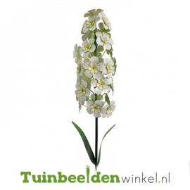 Metalen bloem ''Witte hyacint'' Tbw0871pr101