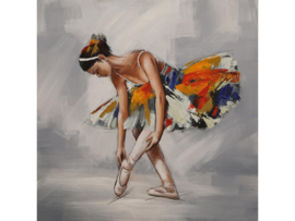 "Olieverf schilderij ""De dansende ballerina"" TBW3360sc  100x100 cm"