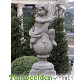 """Engelen beeld """"Seizoen Engel Herfst"""" op sokkel TWB3br221br"""