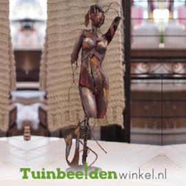 """Metalen figuur """"De sierlijke vrouw"""" TBW310010me"""