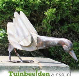 Dieren tuinbeeld ''De nieuwsgierige eend'' Tbw0871pr02