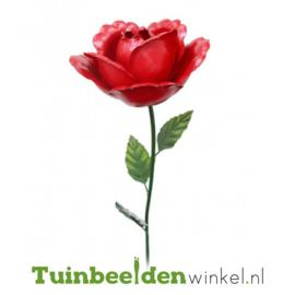 Metalen bloem ''Rode roos'' Tbw0871pr96