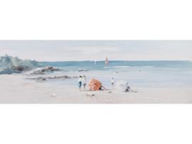 Olieverf schilderij landschap ''Dagje aan zee'' TBW60043sc