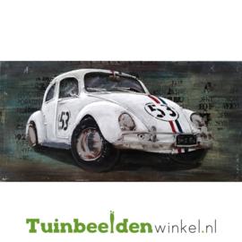 """3D schilderij """"De witte kever"""" TBW000713 40x80 cm"""