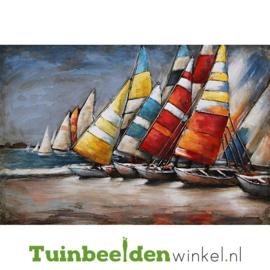 Metalen schilderij ''De zeilboten'' TBW001569