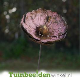 Metalen bloem ''De klaproos'' TBW89155