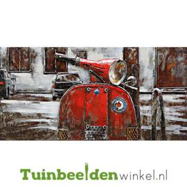 """3D schilderij """"De scooter"""" TBW8040010sc 80x40 cm"""