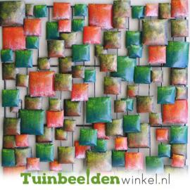 Metalen schilderij ''Abstracte vlakken'' TBW16121